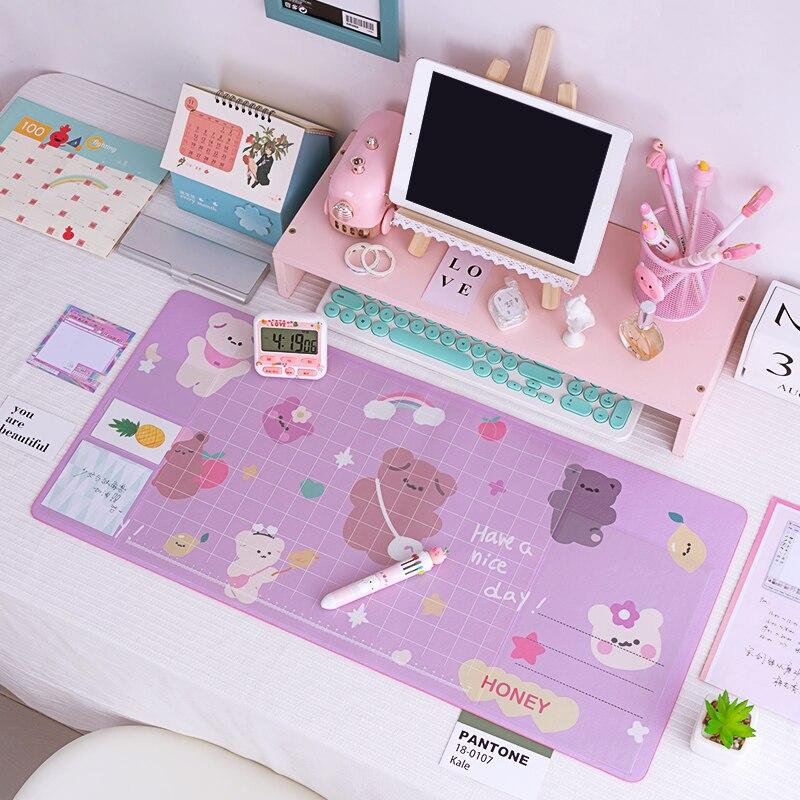 Rosa farbe übergroßen wasserdicht blume maus pad schreibtisch pad nette student büro liefern schreibtisch matte geeignet geschenk für mädchen neue