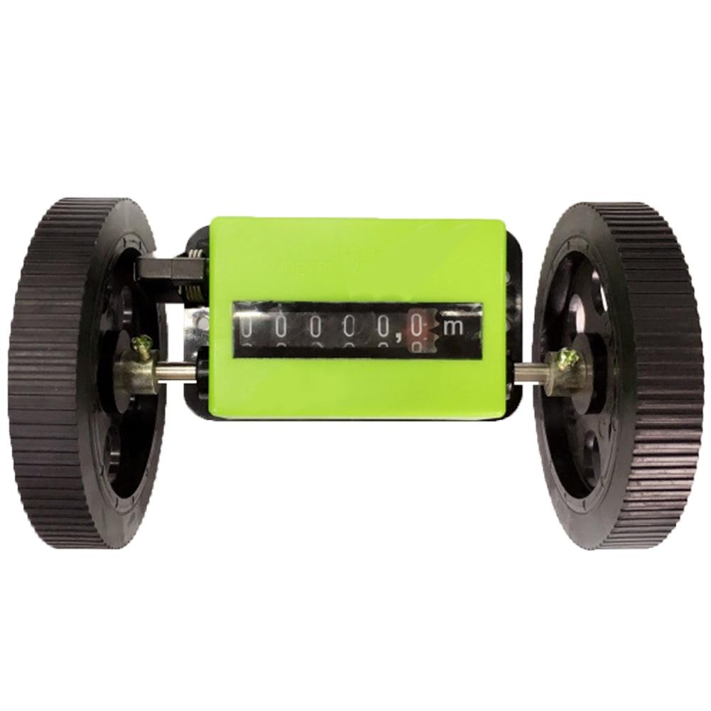 Medidor duradero, textil, contador correcto, rollo de mostrador portátil mecánico de longitud