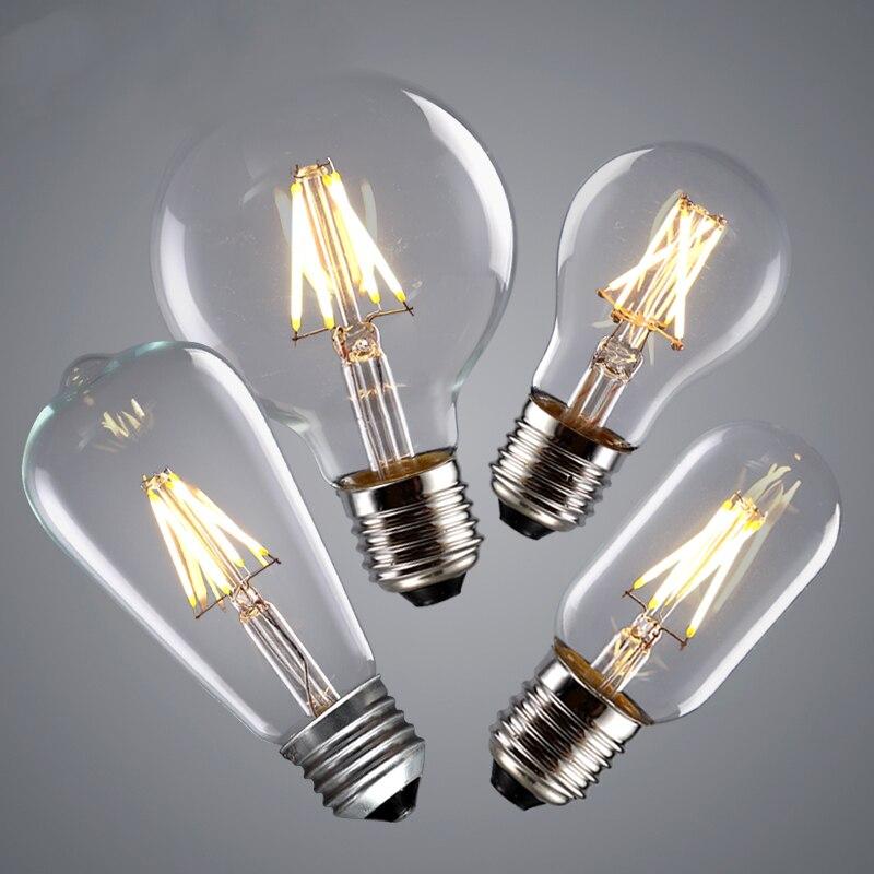 LED Filament Edison Bulb E27 E14 220V Vintage Retro Edison Lamp Candle Light Bulb Chandelier Replace 40w Incandescent Bulb