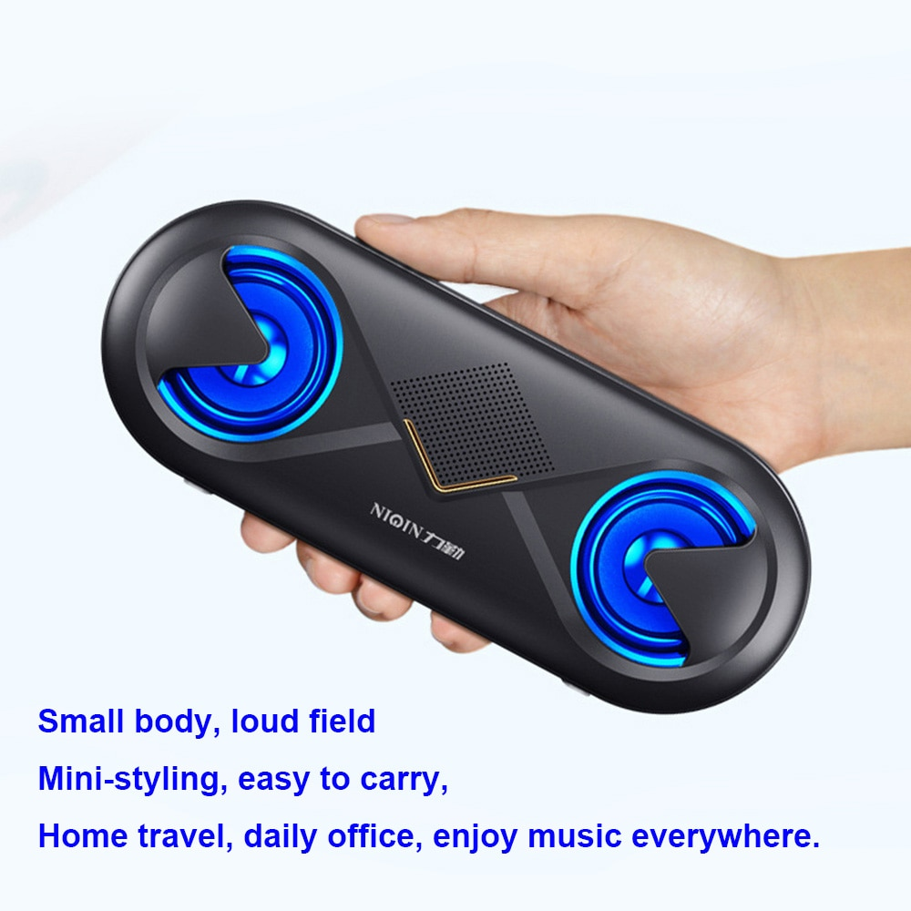 Wireless Bluetooth 5.0 Speaker 4D Stereo Sound Portable Loudspeaker Outdoor Player Double Horns Support TF Card/USB Drive/AUX enlarge