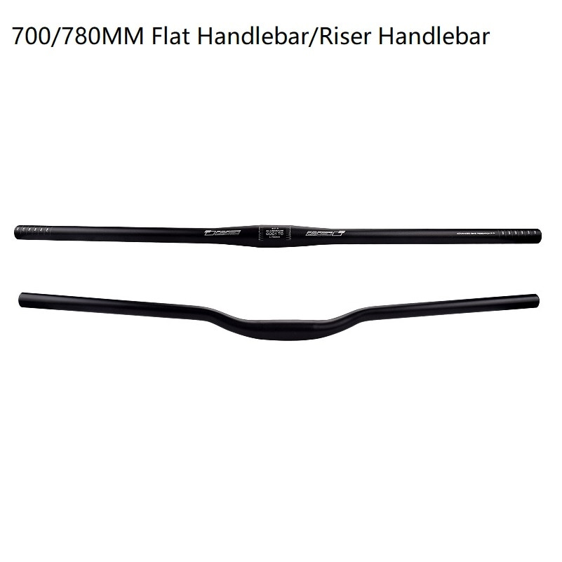 Bicycle Handlebar 31.8mm Bike Flat Handlebar Mountain Road Bike Riser Handlebar 700mm 780mm Bicycle Parts For MTB XM DH