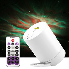 Night Light Starry Sky Projector Water Wave Lamp LED Star Music Rotating Remote Control Bluetooth Bedroom Decorat Bedside Lamp