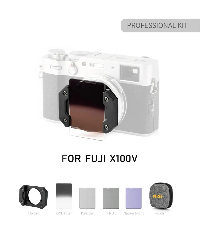 Système de filtre UV NISI UHD pour adaptateur FUJI Fujifilm X100V kit de filtre carré CPL ND pour filtres dobjectif de caméra polariseur X100 F T S