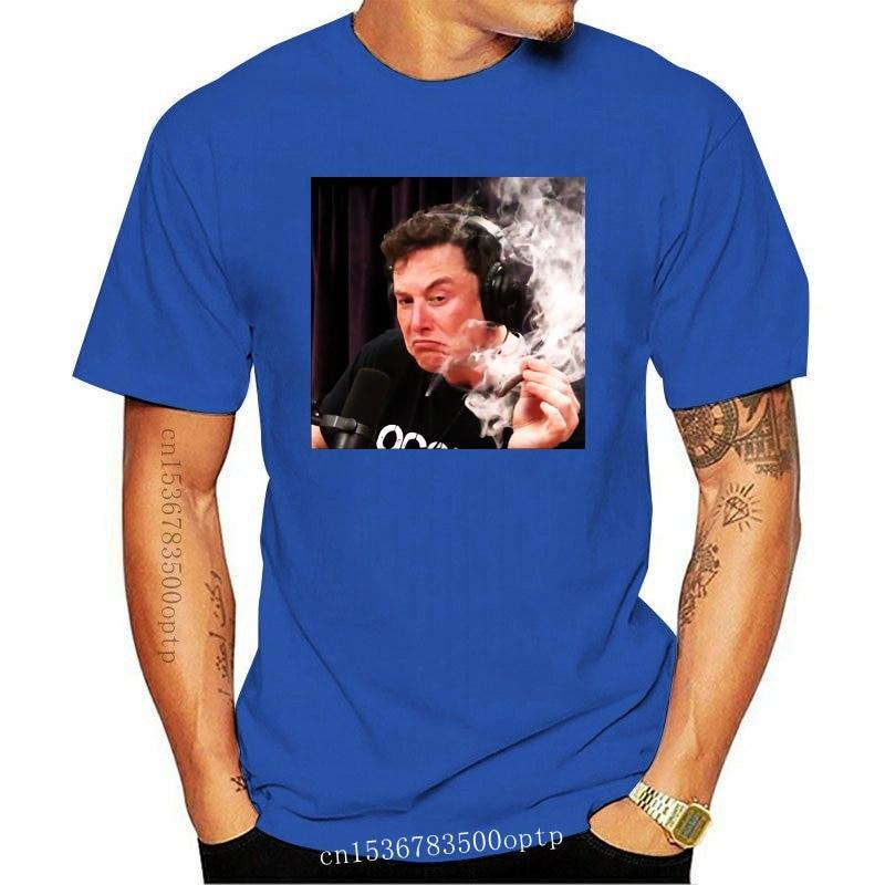 New Elon Musk Smoking Weed On Joe Rogan Experience - Unisex T-Shirt Black - Unisex T Custom Print Tee Shirt
