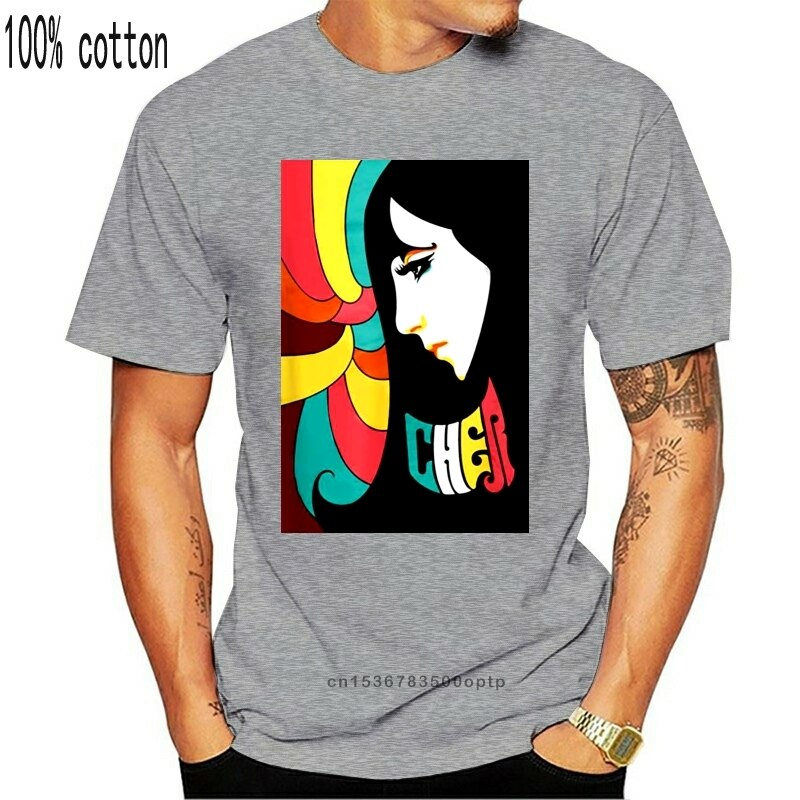 Camiseta S-3XL o cher show broadway colorido gráfico preto