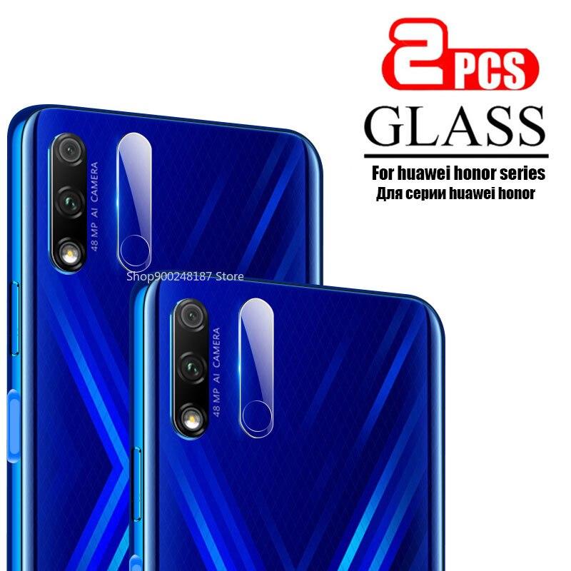 2 piezas de vidrio templado Protector de lente de cámara para Huawei Honor 9X 9a 20 Pro 10 Lite 10i Honor20 Honor10i 30 película protectora de vidrio