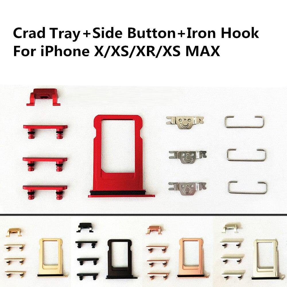 11PCS Vollen Satz Stumm & Power & Volume Button Sim Karte Tray Mit Wasserdichte Ring Für iPhone 7 8 8P plus X Kleine Metall Eisen Teile