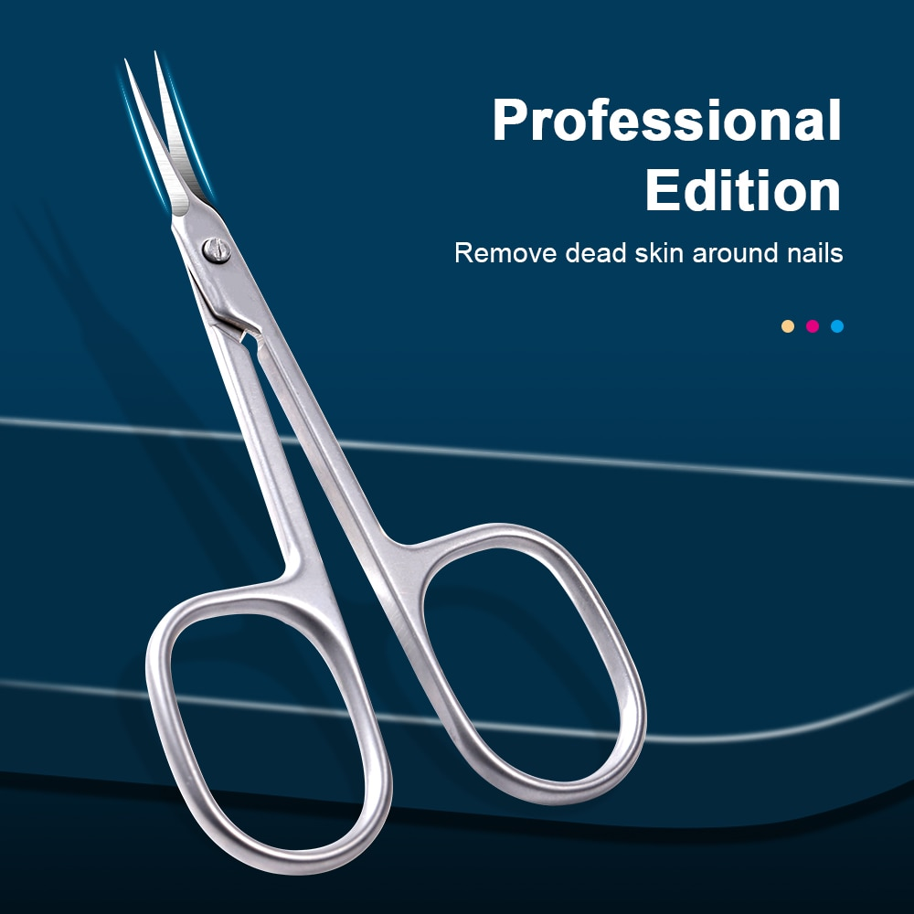 Professional Russian Curved Tip Scissors Stainless Steel Nail Dead Skin Remover Scissors Nail Clipper Manicure Tools Salon high quality surgical stainless steel scissors straight tip scissors curved tip ophthalmic suture scissors tissue scissors