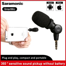 Saramonic SmartMic Flexible condensateur brancher micro micro avec haute sensibilité pour IOS iPad iPhone 5/6/7 iPod Touch Smartphone