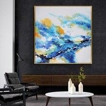 De grandes peintures faites à la main Dafen peinture à lhuile moderne salon chambre peinture décorative peint à la main peinture à lhuile abstraite