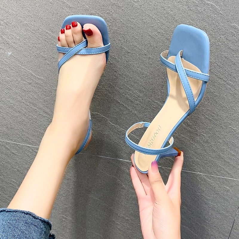 Chanclas de tacón alto de 7cm para mujer, sandalias para baile de graduación, plataforma fetiche, sandalias de pelador de San Valentín, zapatos sexys con punta alta, verano 2021