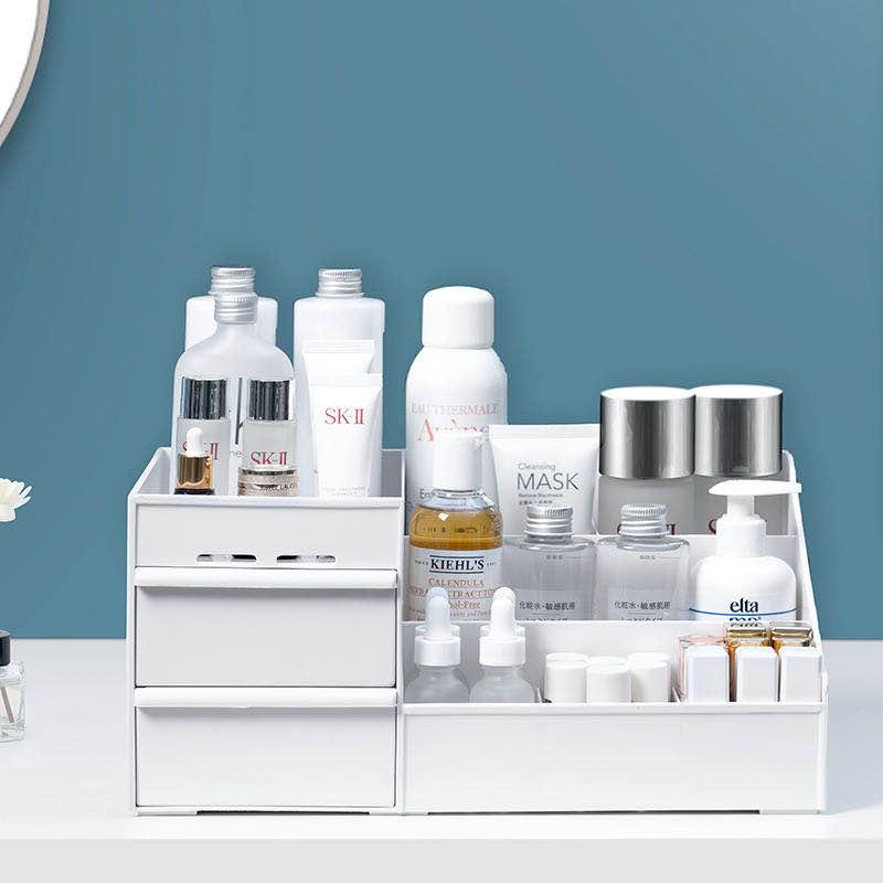 1pcLarge Capacity Cosmetic Storage Box Makeup Drawer Organizer Jewelry Nail Polish Makeup Container Desktop Sundries Storage Box