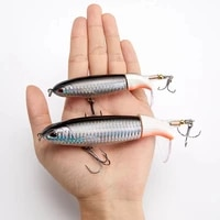 1pcs whopper plopper 110mm15g top water popper fishing lure hard bait wobblers rotating soft tail fishing tackle