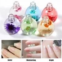 15ml nail oil dried flower nourishing nails 6 fragrances treatment nutritious gel polish for manicure