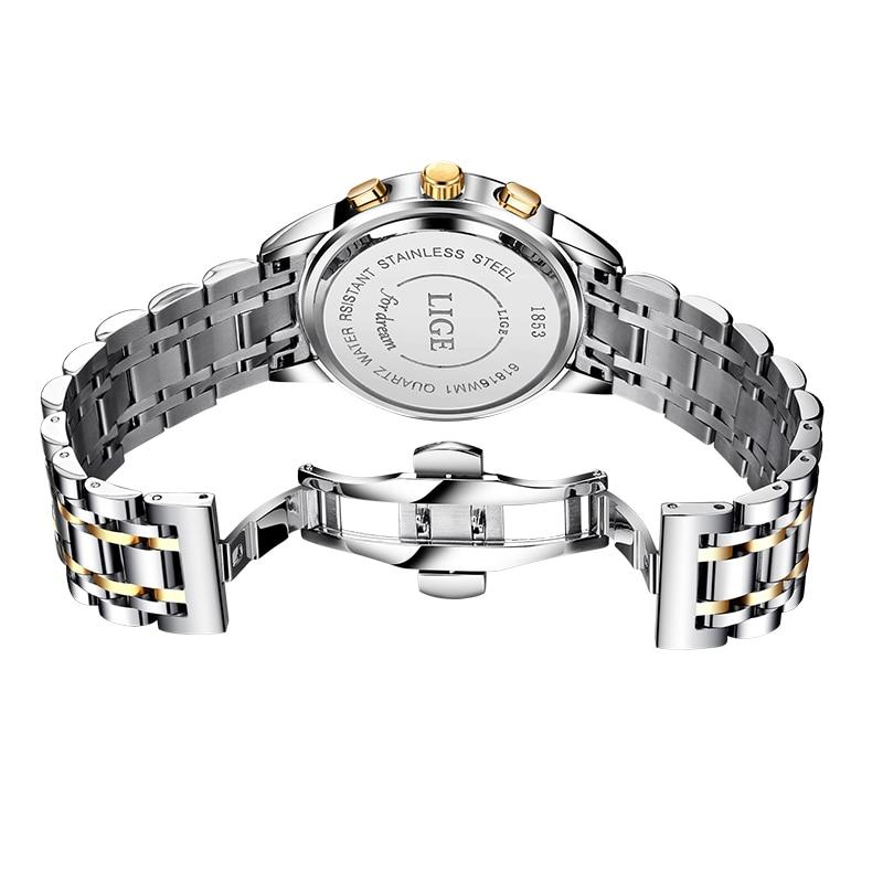 2021 LIGE Rose Gold Women Watch Business Quartz Watch Ladies Top Brand Luxury Female Wrist Watch Girl Clock Relogio Feminin+Box enlarge