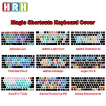 HRH Ableton Live Avid Pro outils coupe finale Pro X PS touche chaude fonctionnelle clavier couverture peau pour clavier magique MLA22B/A US