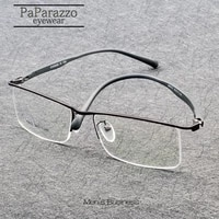 brand design business men metal myopia glasses frame half frame tr90 prescription eyeglasses superelastic legs oculos de grau