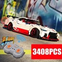 new 3408pcs rc speed racing car motor power functions technical model kits building blocks bricks toys kid gift