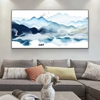 abstract art chinese style landscape painting wall art canvas painting posters and prints wall art picture cuadros home decor