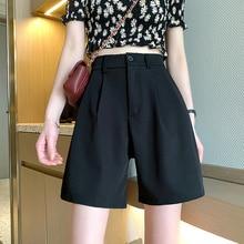 Suit Shorts Women's Fashion 2021 New Autumn Capris High Waist Slim Loose Casual Pants Black Pants