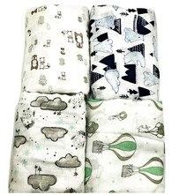 Couverture en mousseline de bambou 100%   Imprimé Floral, literie de bébé, serviettes de bain, couvertures de nouveau-né pour bébés, serviette de bain lange emmaillotage