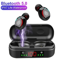 TWS V8 Earphones Bluetooth Wireless HiFi Stereo Headphones Earbuds Touch Control Earphone with Micro
