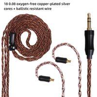 FDBRO MMCX 2pin 8-Cores Balanced Upgrade Earphone Cable 2.5/3.5/4.4mm Headphone Silver Plated Wire SE215 SE315 SE425 SE535 SE846