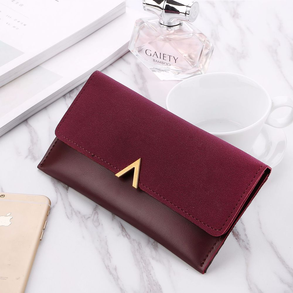 Leather Women Wallets Hasp Lady Moneybags Zipper Coin Purse Woman Envelope Wallet Money Cards ID Holder Bags Purses Pocket