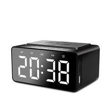 Беспроводное зарядное устройство, Bluetooth сабвуфер, динамик 2, будильник, USB зарядка, светодиодный, зеркальный телефон, портативный, FM радио, яркость