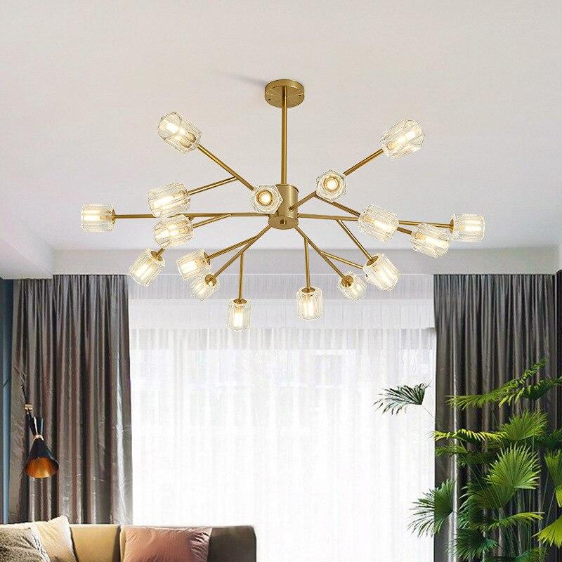 جديد الحديثة مصباح لغرفة المعيشة الشمال LED الثريا الحديثة الحد الأدنى جو مطعم ضوء الفاخرة الجزيئية مصباح غرفة النوم