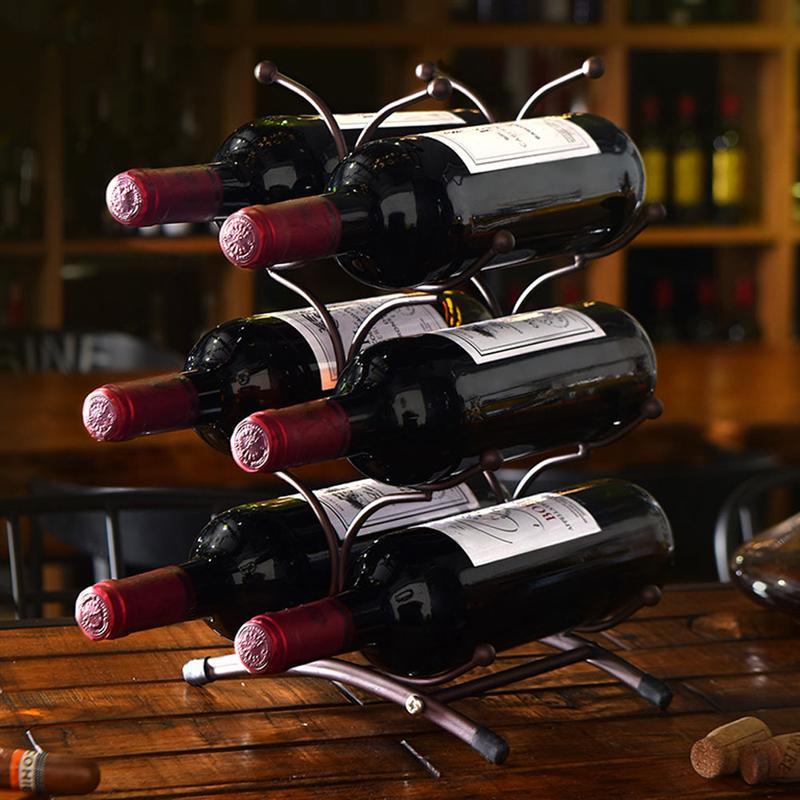 1 قطعة النبيذ زجاجة تخزين رف الزخرفية عرض رف الجدول الرف (القهوة)