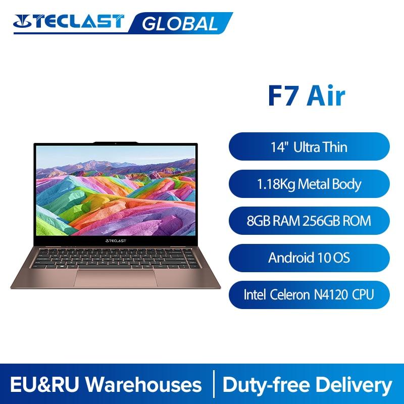Teclast F7 Air 14'' Ultra Thin Laptop Intel N4120 8GB LPDDR4 256GB SSD Notebook 1920x1080 FHD Window