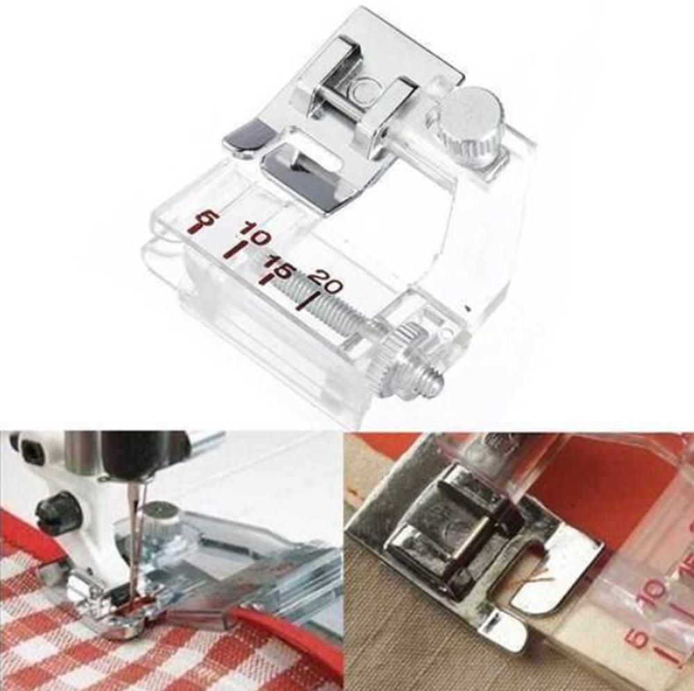 Pie prensatelas ajustables con cinta diagonal para Brother accesorios para máquinas de coser herramienta para el hogar