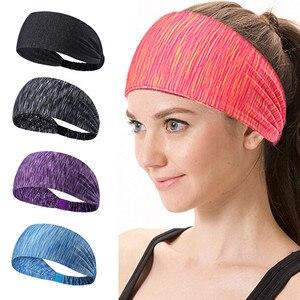 Women Cotton Knotted Turban Head Warp Hair Band Wide Elastic Headband Sport Yoga