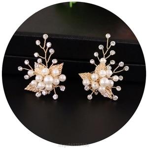 Shoe Clip Gold Leaf Alloy Wedding Shoes High Heel Decoration Women Sandals Charms Luxury Fashion Ornament DIY N02 20