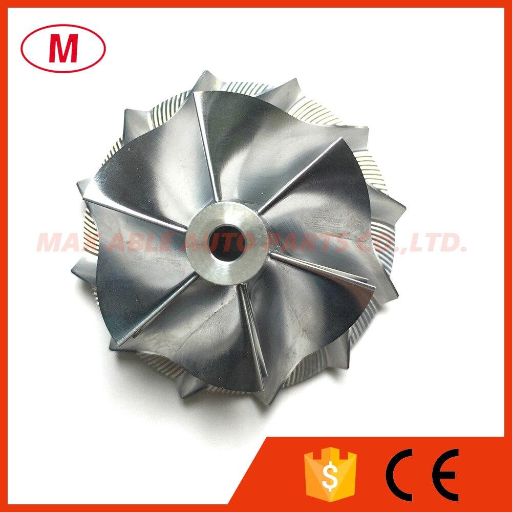 RHF5 44.93/58.00mm 6+6 blades Reverse High Performance Turbo Billet compressor wheel/Milling wheel for Au*di A3 Golf 7 G1/IS38
