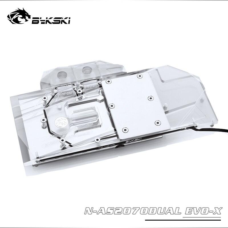 Bykski N-AS2070DUAL EVO-X GPU كتلة مياه التبريد ل ASUS المزدوج RTX2070 EVO