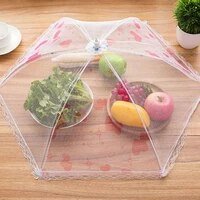 75x30cm foldable fly proof dust proof net food vegetable and fruit protective cover dining table tent