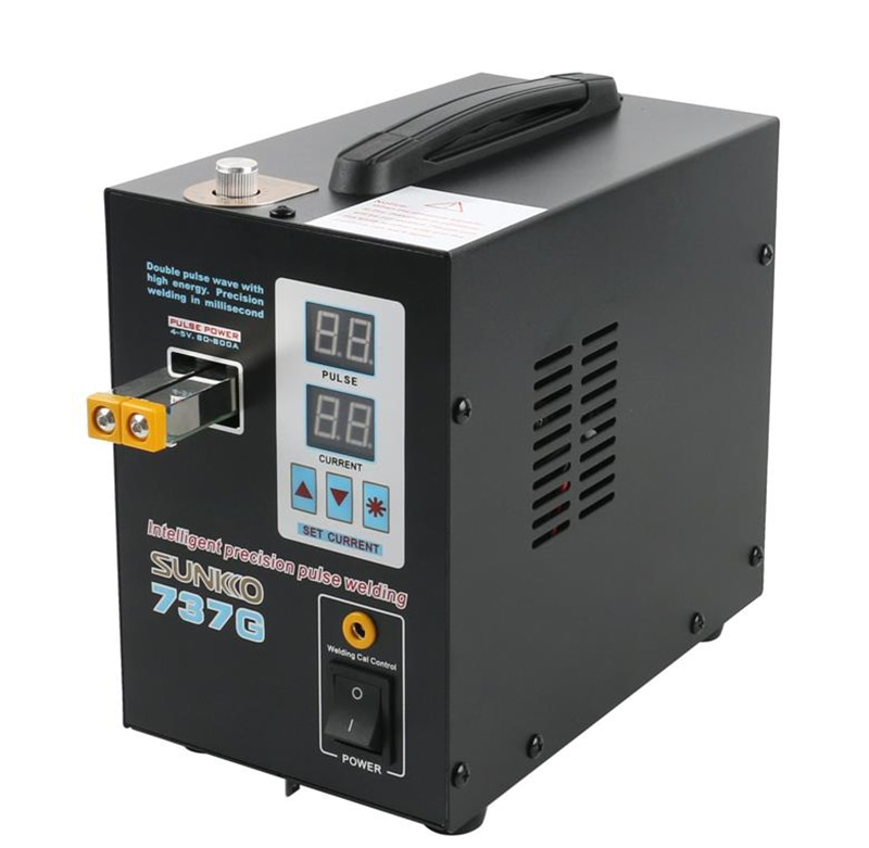 SUNKKO 737G Battery Spot Welder 1.5kw Pulse Spot Welder Led Light Welding Machine Stainless Steel Iron Nickel and So on 5.5kg steel pulse steel pulse victims