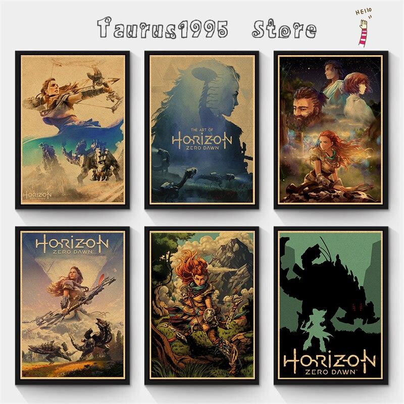 Новый горизонт Zero Dawn игры художественные плакаты и принты настенные художественные декоративные картины для детей гостиной домашний декор