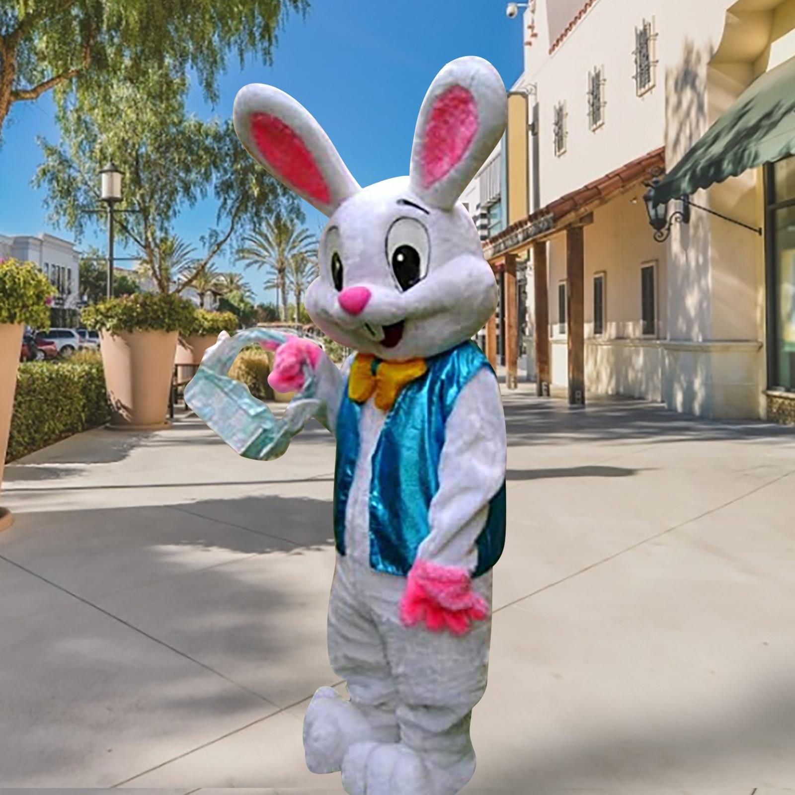 تأثيري ازياء الكعك Professional عيد الفصح الأرنب التميمة زي الأرنب البق الأرنب عيد الفصح الكبار التميمة