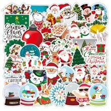 10/30/50PCS Holiday Supplies Christmas Graffiti Stickers Skateboard Guitar Laptop Waterproof Decorat