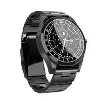 DT19 Reloj Newest Bluetooth Smart Sports Watch Men Metal Wristwatch Dial Call Heart Rate Sport Fitness Tracker SmartWatch