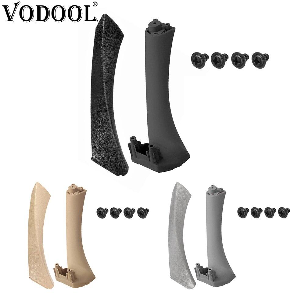 VODOOL manija de Panel de puerta Interior izquierda derecha cubierta embellecedora de tirar Kit para BMW E90 E91 3 Series 318 320 accesorios de Interior de coche