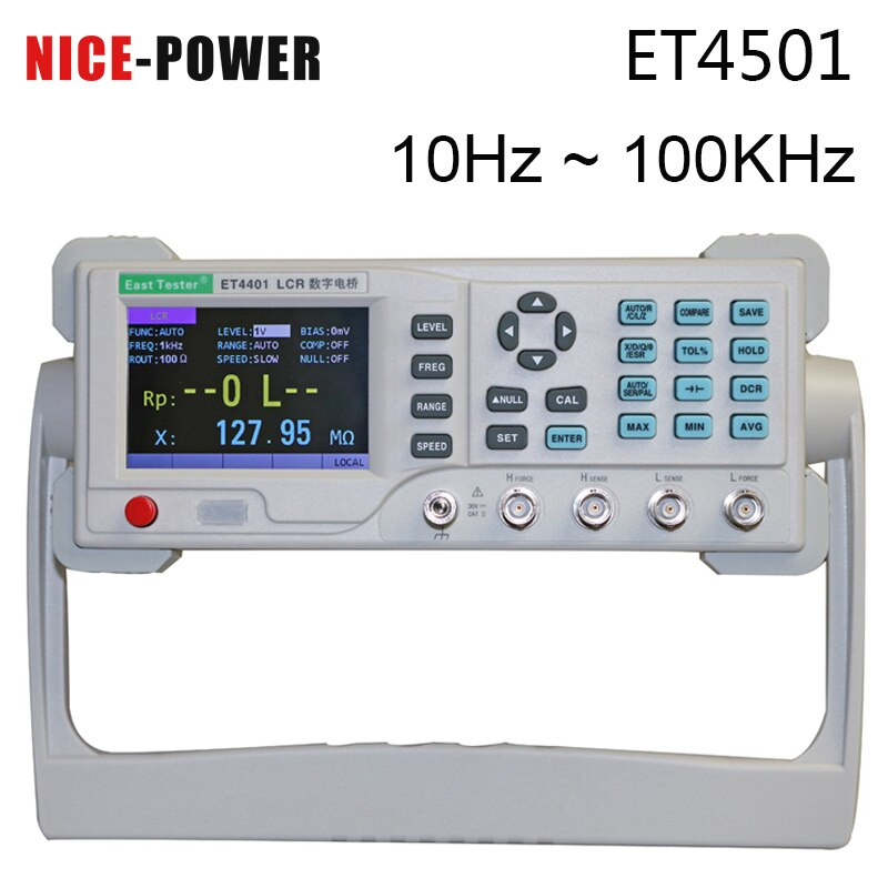 ET4401/ET4402/ET4410 ، جهاز قياس رقمي لمقاومة الجسر الكهربائي ، السعة ، أداة قياس سطح المكتب LCR