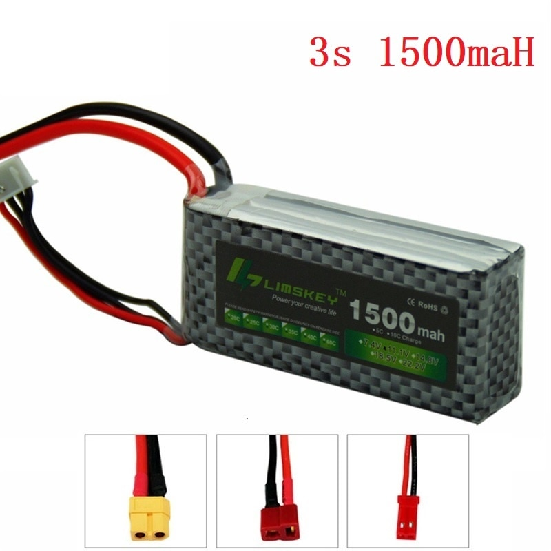Limskey POWER 3S 11.1V 1500MAH T/XT60 Remote control model aircraft battery manufacturers Lithium Polymer 3S Li-po 11.1V battery enlarge