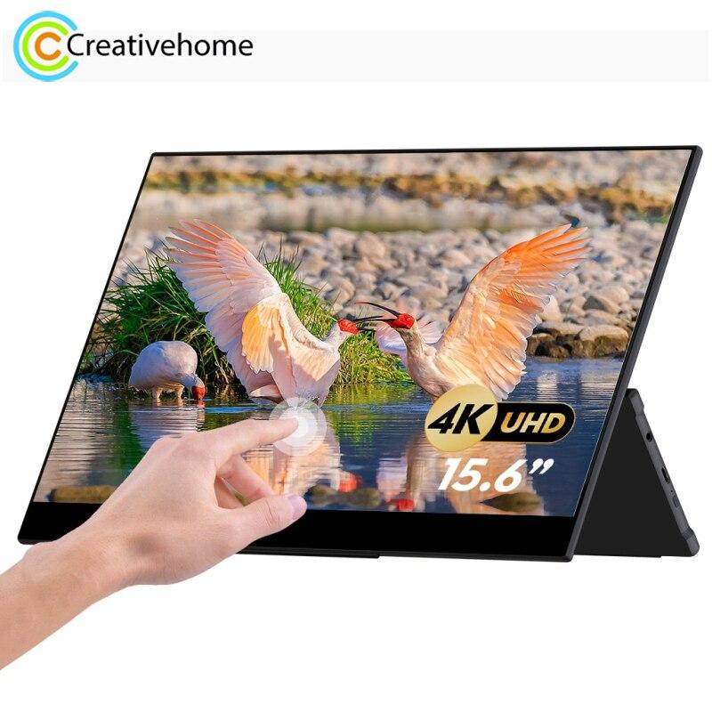 GMK KD2 3840x2160P 4K 15.6 بوصة IPS بالسعة شاشة تعمل باللمس مع مكبرات الصوت المزدوجة