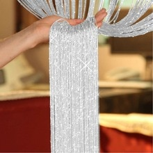 Rideau en fil de fenêtre à paillettes   Pour la maison, rideau à perles, rideau de porte, panneau de rideaux, pour chambre à coucher salon 1*2M