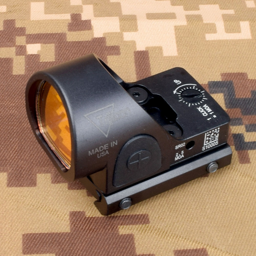 Mini RMR SRO punto rojo mira Airsoft/reflejo de caza Ajuste de 20mm Weaver carril para colimador Glock/Rifle