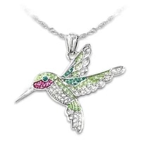 trendy animal hummingbird pendant necklace womens necklace bohemian crystal inlaid necklace pendant accessories party jewelry